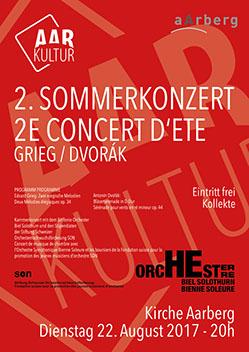 2. Sommerkonzert GRIEG / DVORÁK (22. August 2017)