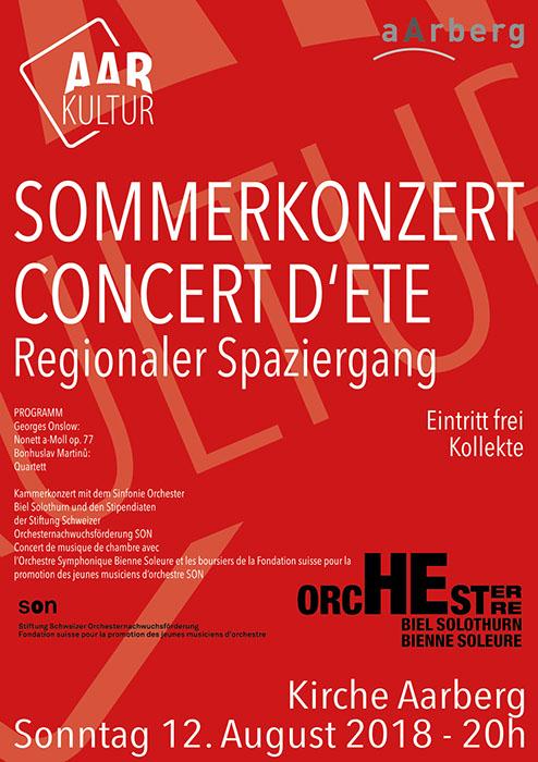 Sommerkonzert – Regionaler Spaziergang (12. August 2018)
